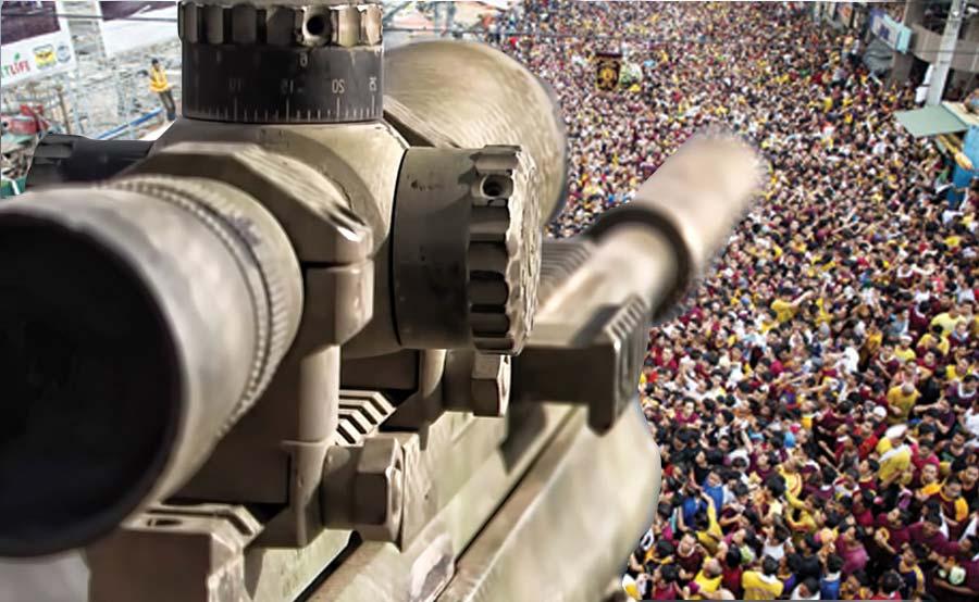 ABANTE TNT snipers nazareno prusisyon quiapo