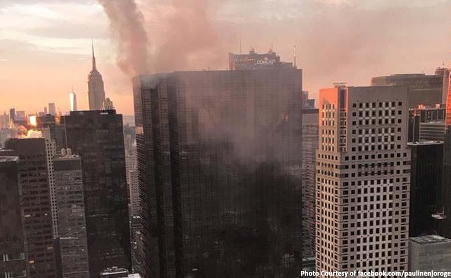 ABANTE TNT trump tower fire ny