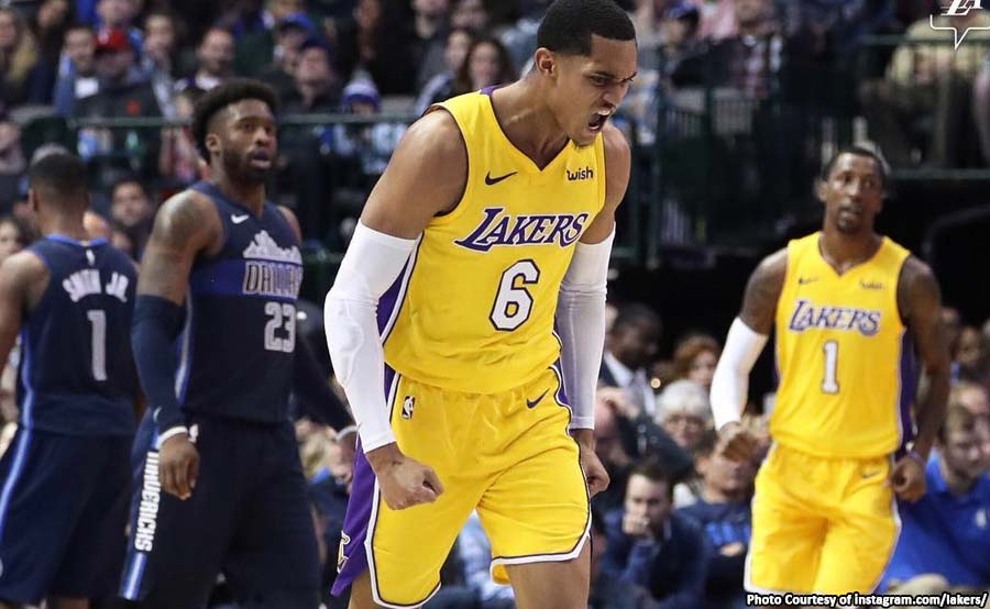 ABANTE lakers mavericks jordan clarkson 6