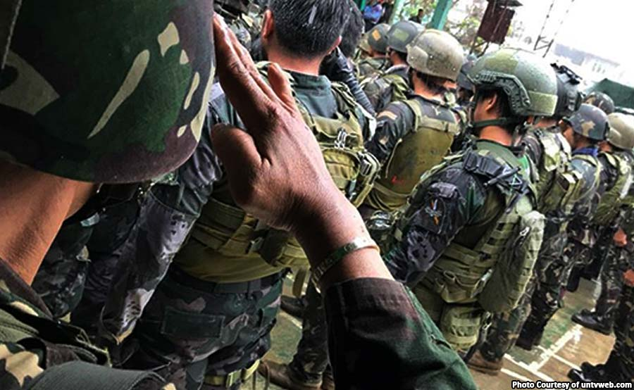 ABANTE military honors soldier philippine marines marawi