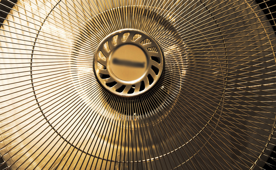 overheat-electric-fan