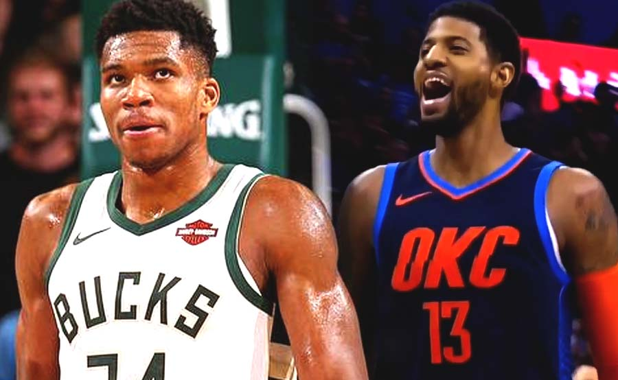 Paul George OKC Giannis Antetokounmpo Bucks