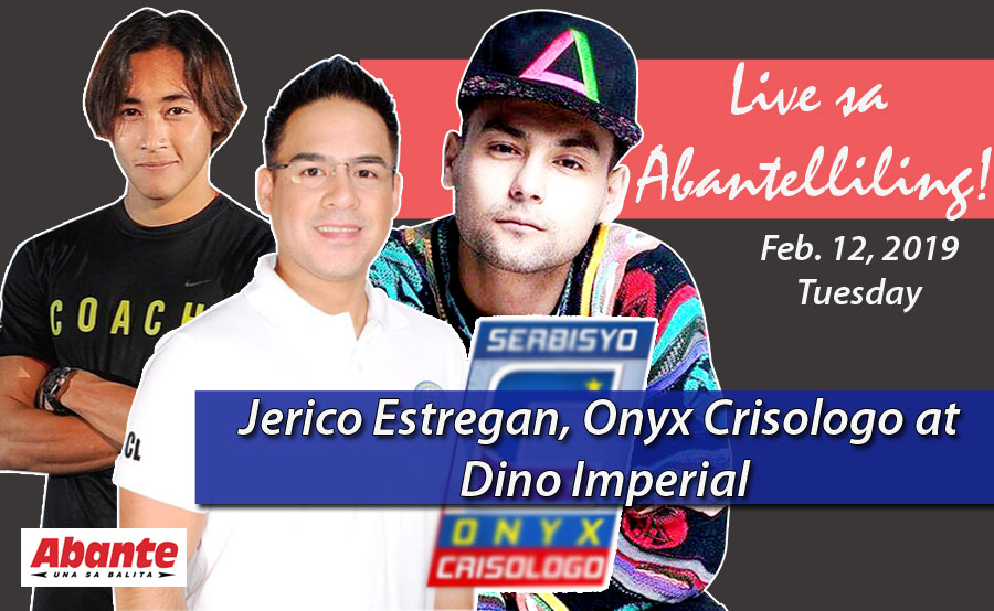 Jerico Estregan, Dino Imperial at Onyx Crisologo live sa Abantelliling!