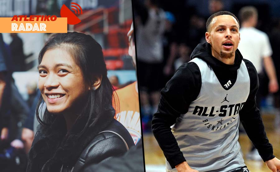 Volleyball tayo! Alyssa Valdez hinamon si Steph Curry