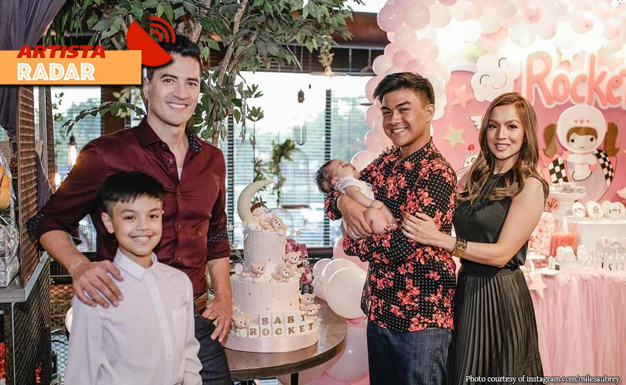 Tingnan: Baby girl nina Troy at Aubrey bininyagan na