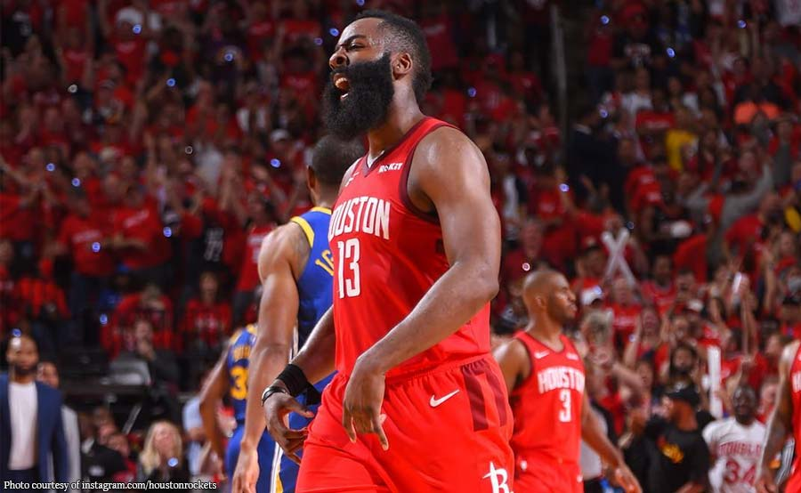 Curry sablay, Harden rumesbak! Rockets inisahan ang Warriors