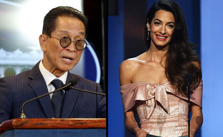 Panelo 'good match' kay Clooney - Duterte