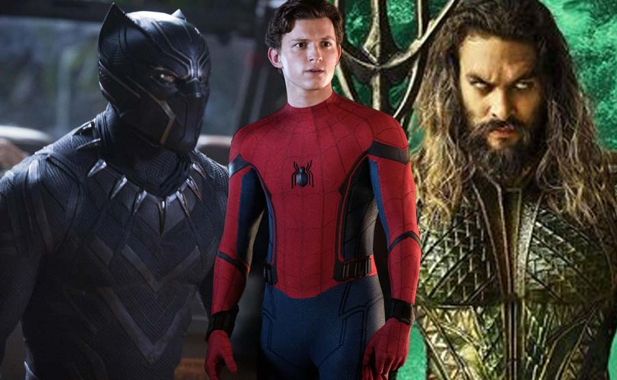 Record nina Black Panther, Aquaman iniputan ni 'Spider-Man'