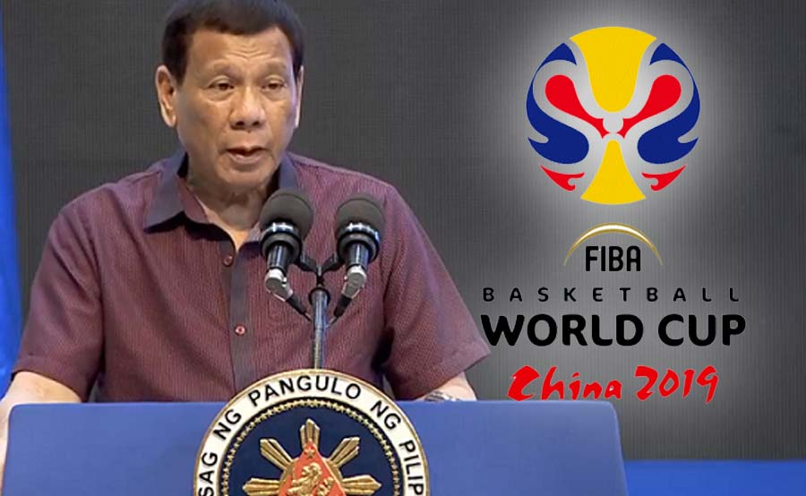 Duterte manonood ng FIBA World Cup sa China