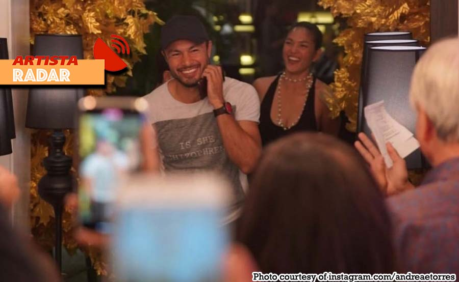 Derek sinorpresa ni Andrea ng birthday party