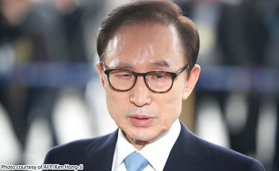 Ex-South Korean president hinatulang makulong ng 17 taon
