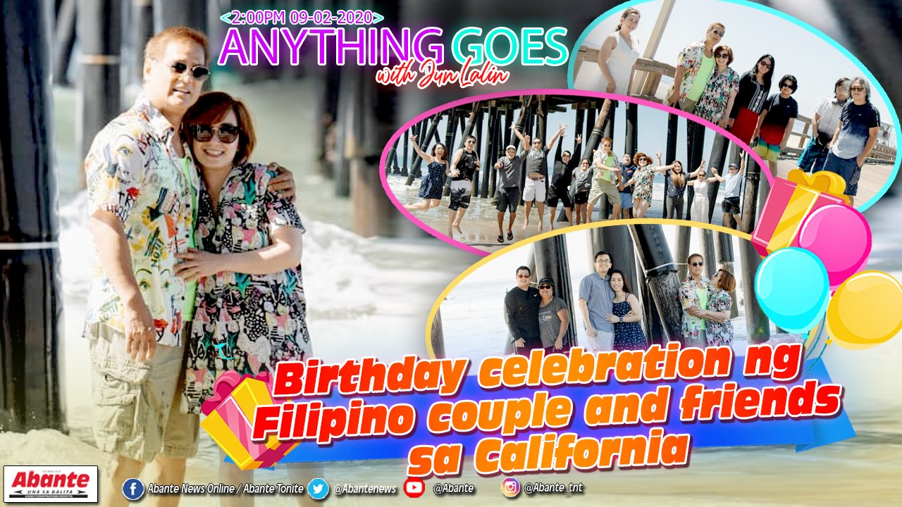 Birthday celebration ng Filipino couple and friends sa California