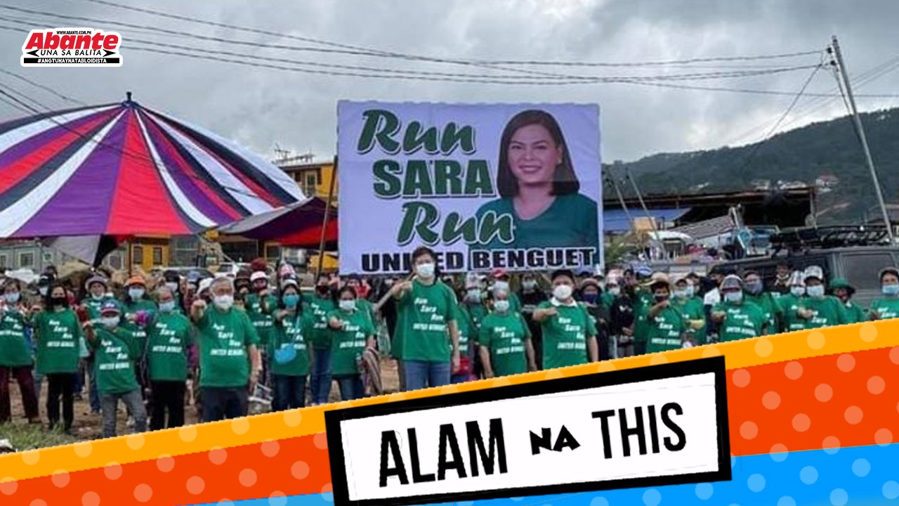 Run Sara run tarp hindi bawal - Comelec | Alam na this