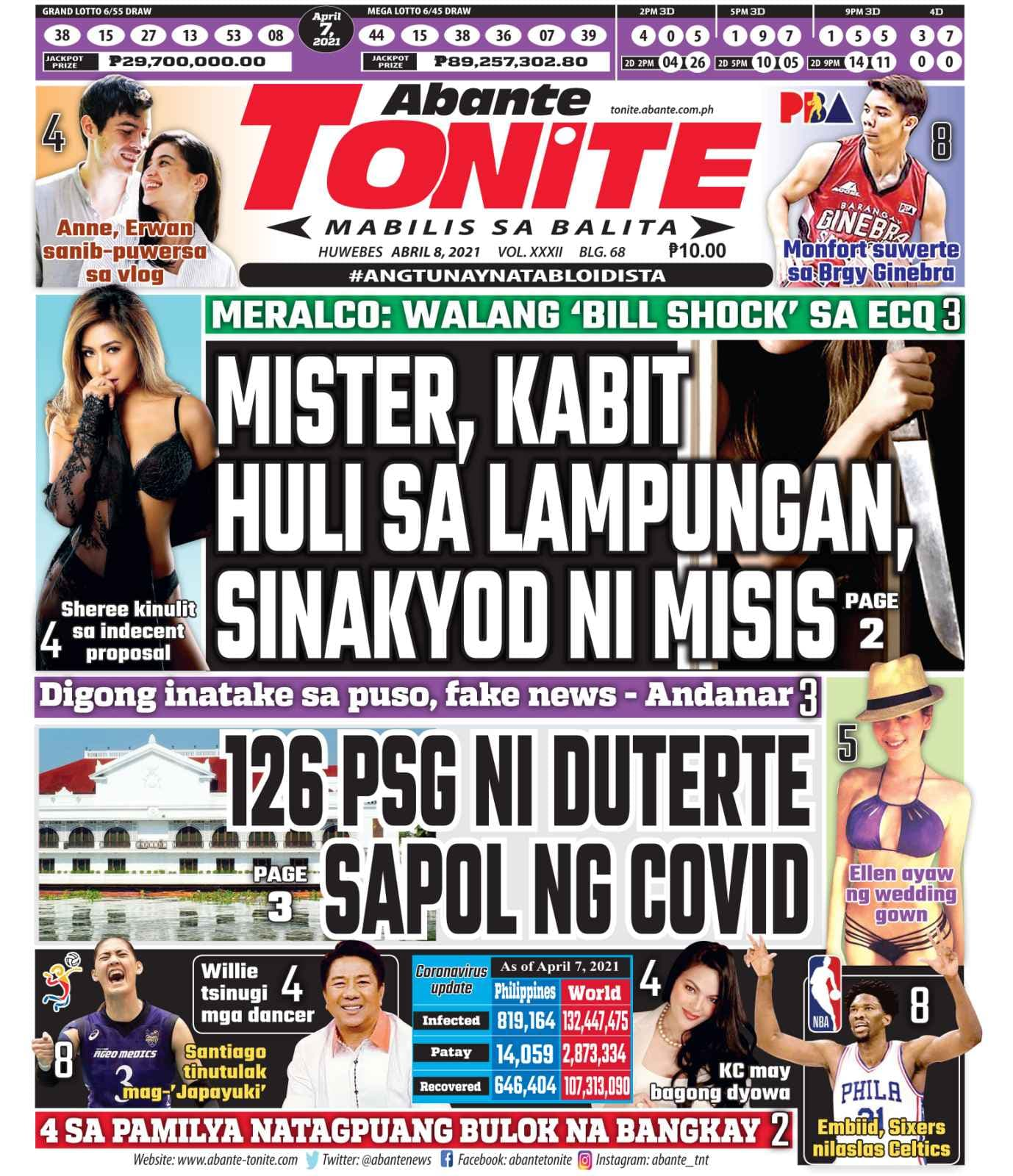 Tonite Front Page