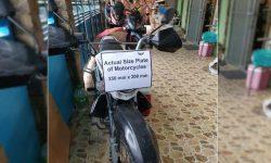 Duterte, Gordon minura ng netizen dahil sa 'world record' na plaka ng motorsiklo