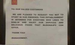 Mga estudyante pinagbawalang mag-aral: McDonald's i-boycott - mga netizen